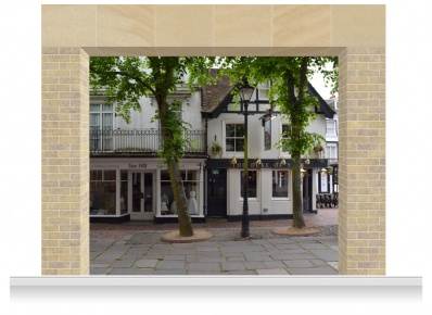 3-Drop Scenic Mural - The Pantiles Kent (280cm)