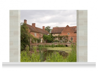 3-Drop Scenic Mural - Flatford Mill Suffolk (240cm)