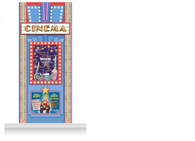 1-Drop Guildford 'Cinema' Mural (280cm)