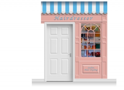 2-Drop Stamford Shop Front 'Hairdresser' Mural (280cm)