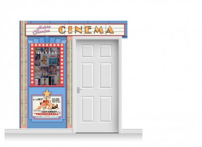 2-Drop Guildford 'Cinema' Mural (240cm)