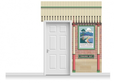 2-Drop Railway Station Mural (280cm)