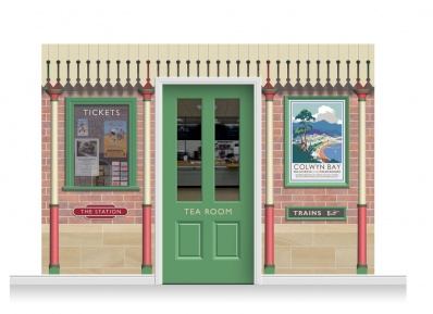 3-Drop Railway Station Mural (240cm) + Door Print