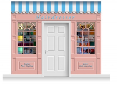 3-Drop Stamford Shop Front 'Hairdresser' Mural (280cm)