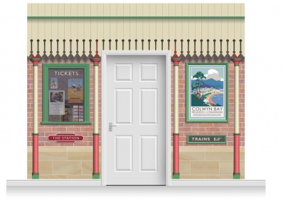 3-Drop Railway Station Mural (280cm)