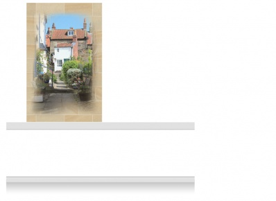 1-Drop Vignette Mural - Yorkshire Village (190cm)