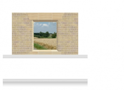 2-Drop Window Opening Mural - Lincolnshire Field (150cm)