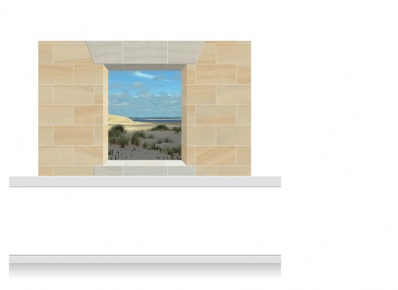 2-Drop Window Opening Mural - Norfolk Coast (150cm)