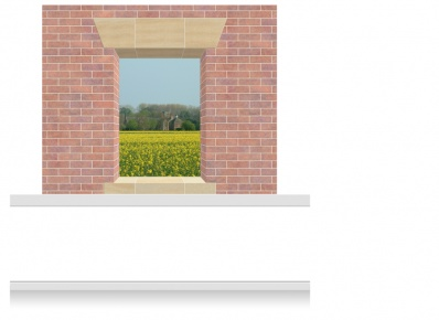 2-Drop Window Opening Mural - Staffordshire Rape Field (190cm)