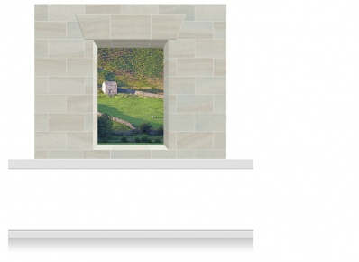 2-Drop Window Opening Mural - Snowdonia Hill Farm (190cm)