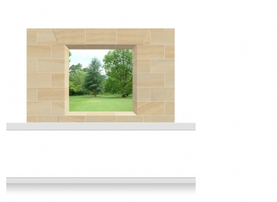 2-Drop Window Opening Mural - Lincolnshire Parkland (150cm)