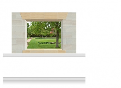 2-Drop Window Opening Mural - Kent Garden (150cm)