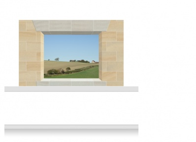 2-Drop Window Opening Mural - Derbyshire Fields (150cm)