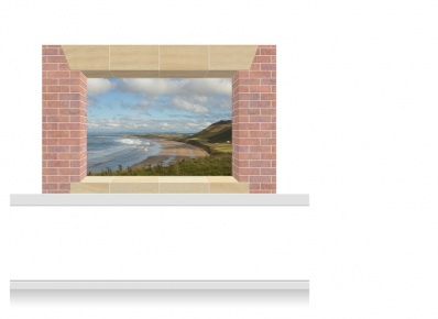2-Drop Window Opening Mural - Gower Coast (150cm)
