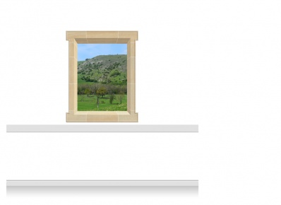1-Drop Window Mural Sticker - Derbyshire Peaks (112.5cm x 142.5cm)