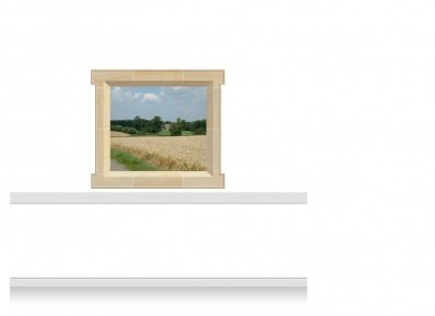 1-Drop Window Mural Sticker - Lincolnshire Field (135cm x 120cm)
