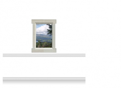 1-Drop Window Mural Sticker - Snowdonia (90cm x 120cm)