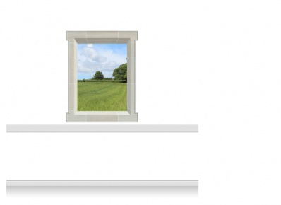 1-Drop Window Mural Sticker - Kent Field (112.5cm x 142.5cm)