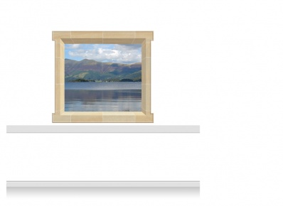2-Drop Window Mural Sticker - Snowdonia Lake (157.5cm x 142.5cm)