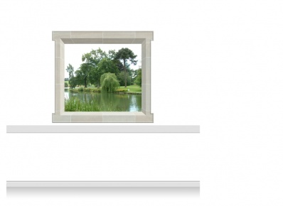 2-Drop Window Mural Sticker - Lincolnshire Lake (157.5cm x 142.5cm)