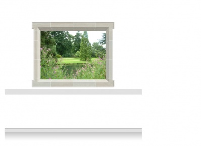 2-Drop Window Mural Sticker - Lincolnshire Parkland (180cm x 142.5cm)