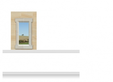 1-Drop (100cm) Window Frame Mural - Derbyshire Field (150cm)