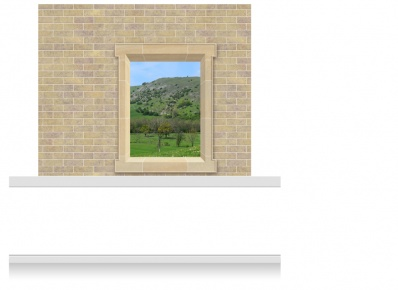 2-Drop Window Frame Mural - Derbyshire Peaks (190cm)
