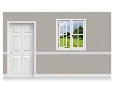 Self-Adhesive Window Stick-Up - Derbyshire Field (112cm x 120cm)