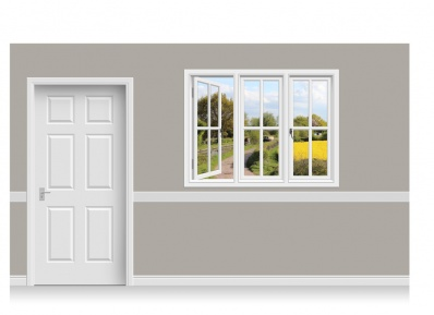 Self-Adhesive Window Stick-Up - Warwickshire Canal (157cm x 120cm)