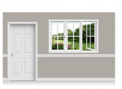 Self-Adhesive Window Stick-Up - Cheshire Garden (180cm x 120cm)