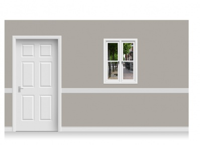 Self-Adhesive Window Stick-Up - Pantiles, Kent (75cm x 100cm)