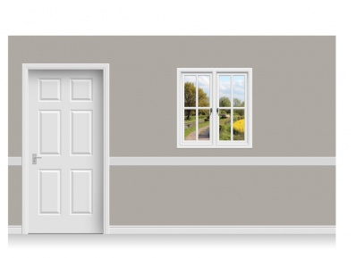 Self-Adhesive Window Stick-Up - Warwickshire Canal (94cm x 100cm)