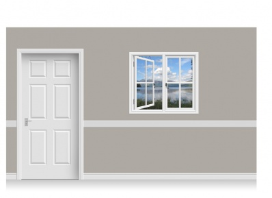 Self-Adhesive Window Stick-Up - Snowdonia Lake (112cm x 100cm)