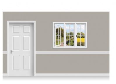 Self-Adhesive Window Stick-Up - Warwickshire Canal (131cm x 100cm)