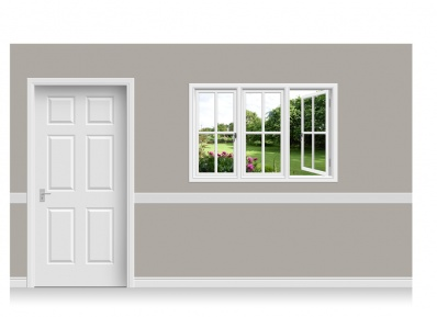 Self-Adhesive Window Stick-Up - Cheshire Garden (150cm x 100cm)