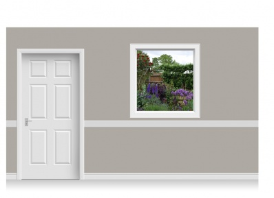 Self-Adhesive Window Stick-Up - Flower Garden (112cm x 120cm)
