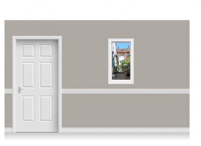 Self-Adhesive Window Stick-Up - Yorkshire Village (56cm x 100cm)