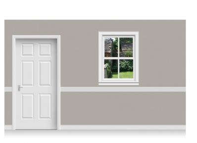 Self-Adhesive Window Stick-Up - Cotswold Garden (90cm x 120cm)