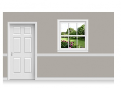 Self-Adhesive Window Stick-Up - Cheshire Garden (112cm x 120cm)