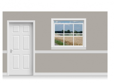 Self-Adhesive Window Stick-Up - Lincolnshire Field (135cm x 120cm)