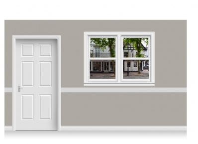 Self-Adhesive Window Stick-Up - Pantiles, Kent (157cm x 120cm)