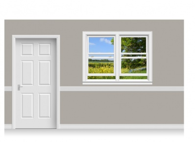 Self-Adhesive Window Stick-Up - Staffordshire Field (157cm x 120cm)