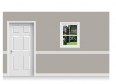 Self-Adhesive Window Stick-Up - Cotswold Garden (75cm x 100cm)