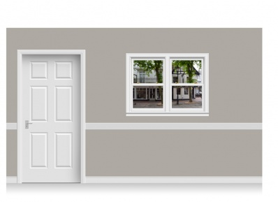 Self-Adhesive Window Stick-Up - Pantiles, Kent (131cm x 100cm)