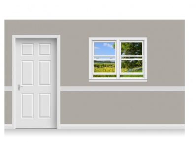 Self-Adhesive Window Stick-Up - Staffordshire Field (131cm x 100cm)