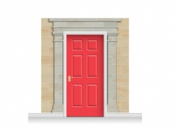 3-Drop Cambridge Door Set Mural (240cm) + Door Print