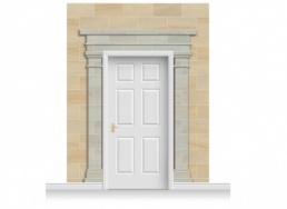3-Drop Cambridge Door Set Mural (280cm)