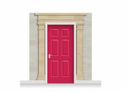 3-Drop Cardiff Door Set Mural (240cm) + Door Print