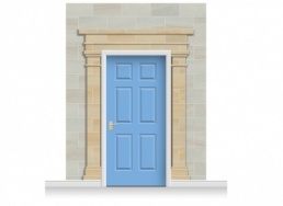 3-Drop Cardiff Door Set Mural (280cm) + Door Print