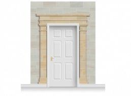 3-Drop Cardiff Door Set Mural (280cm)
